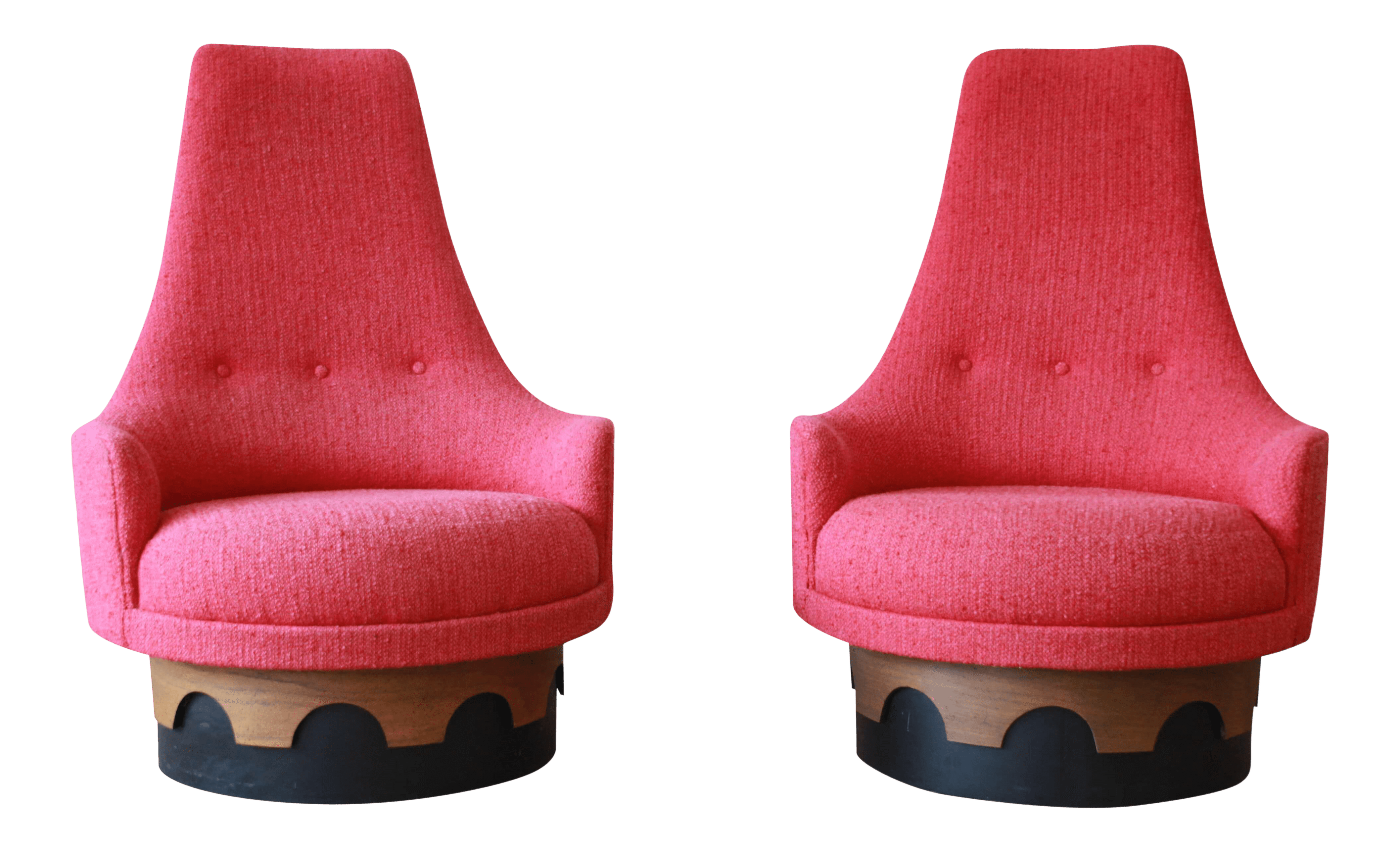 swivel chair in spanish staples turcotte superb 1960s vintage adrian pearsall high back chairs a pair decaso