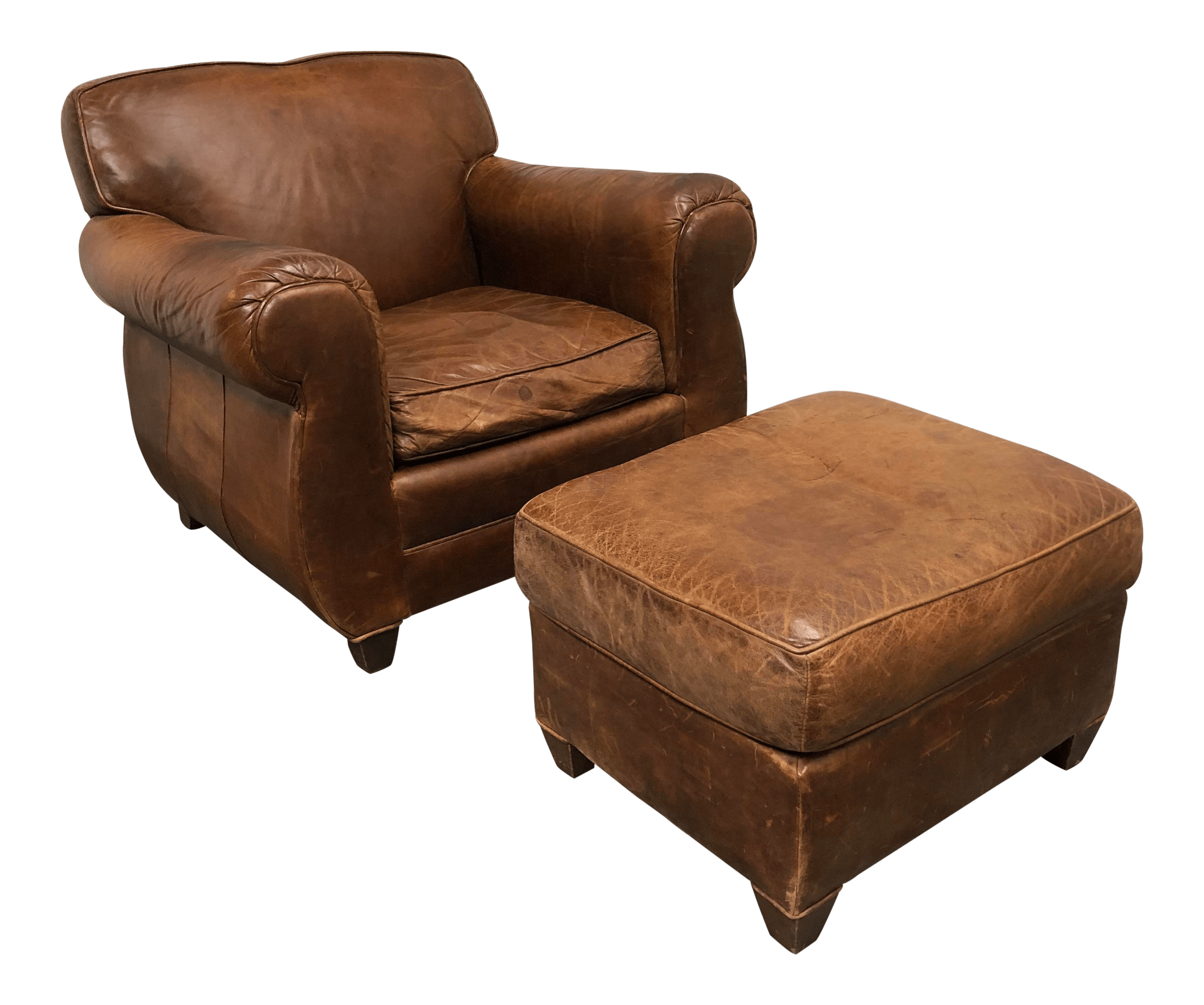Leather Chair And Ottoman Mitchell Gold Restoration Hardware Leather Chair Ottoman