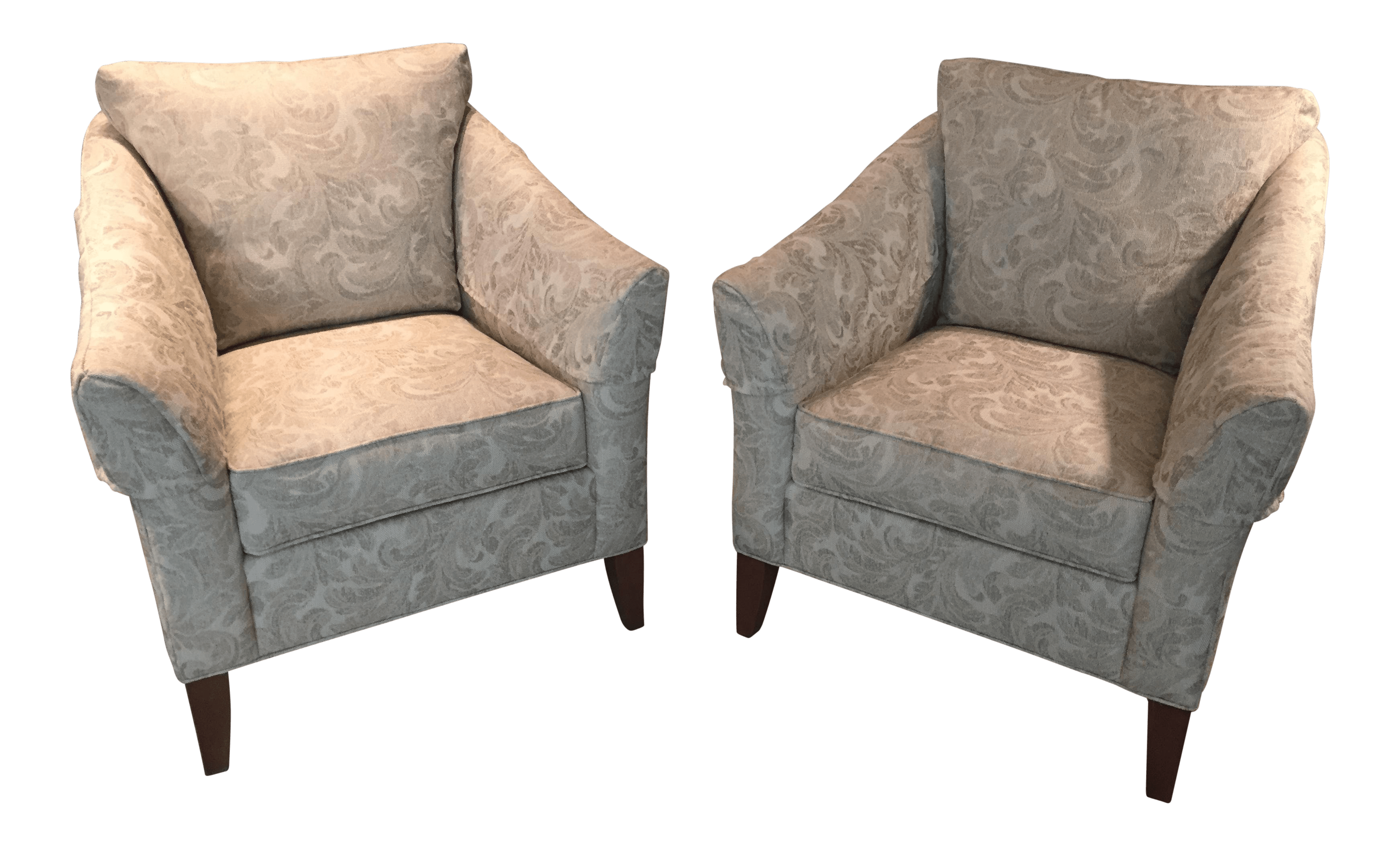 Ethan Allen Club Chairs Ethan Allen Gibson Upholstered Club Chairs A Pair