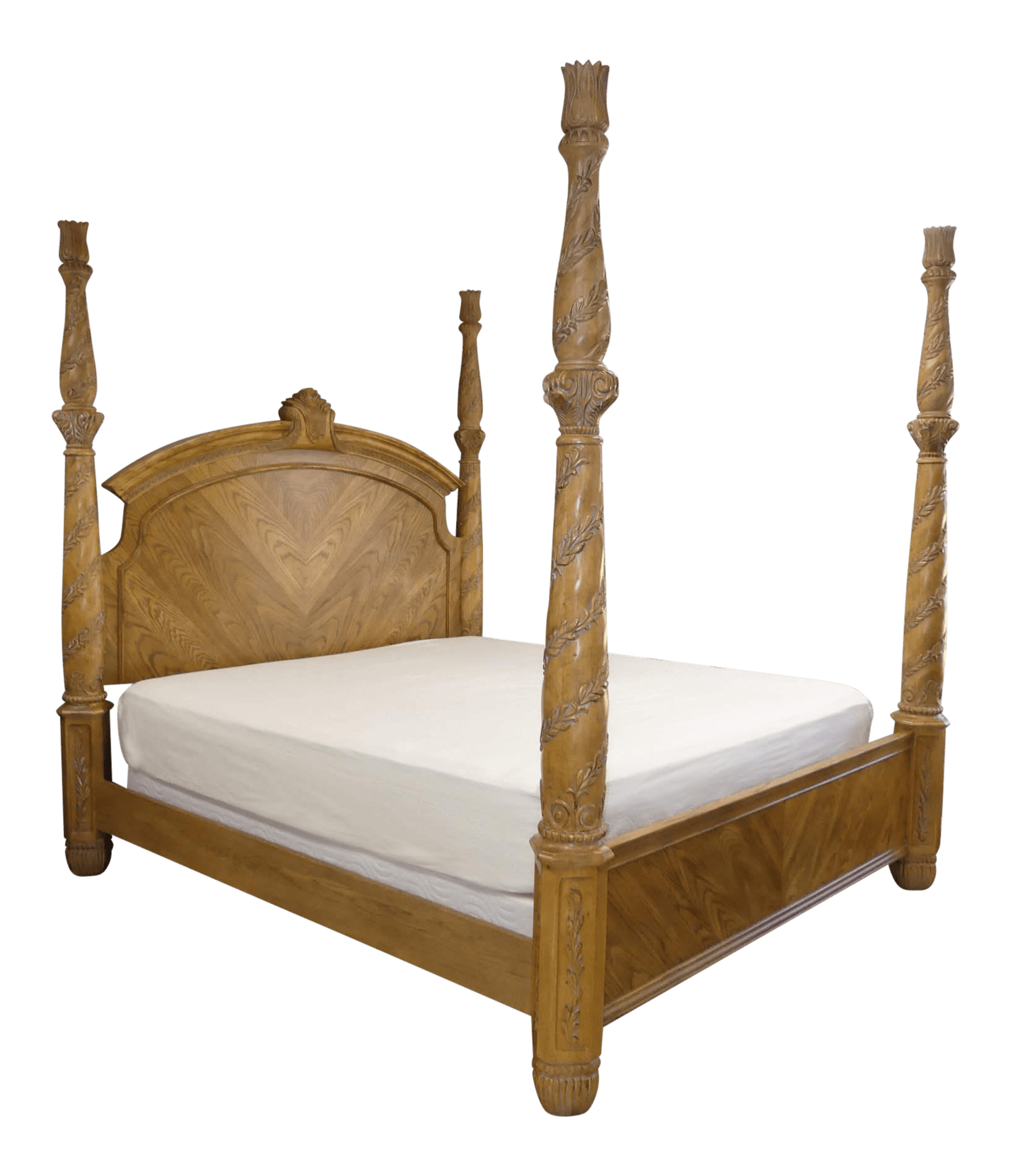 bernhardt athena collection king size poster bed