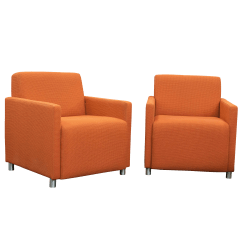 Orange Upholstered Chair Esp Fishing Steelcase Coupe Club Lounge Chairs Chairish