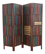 Vintage Trompe L Oeil Folding Screen Library Bas Relief Room Divider Chairish