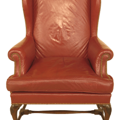 Queen Anne Wingback Chair Leather Bean Bag Chairs Usa Vintage Mahogany Chairish