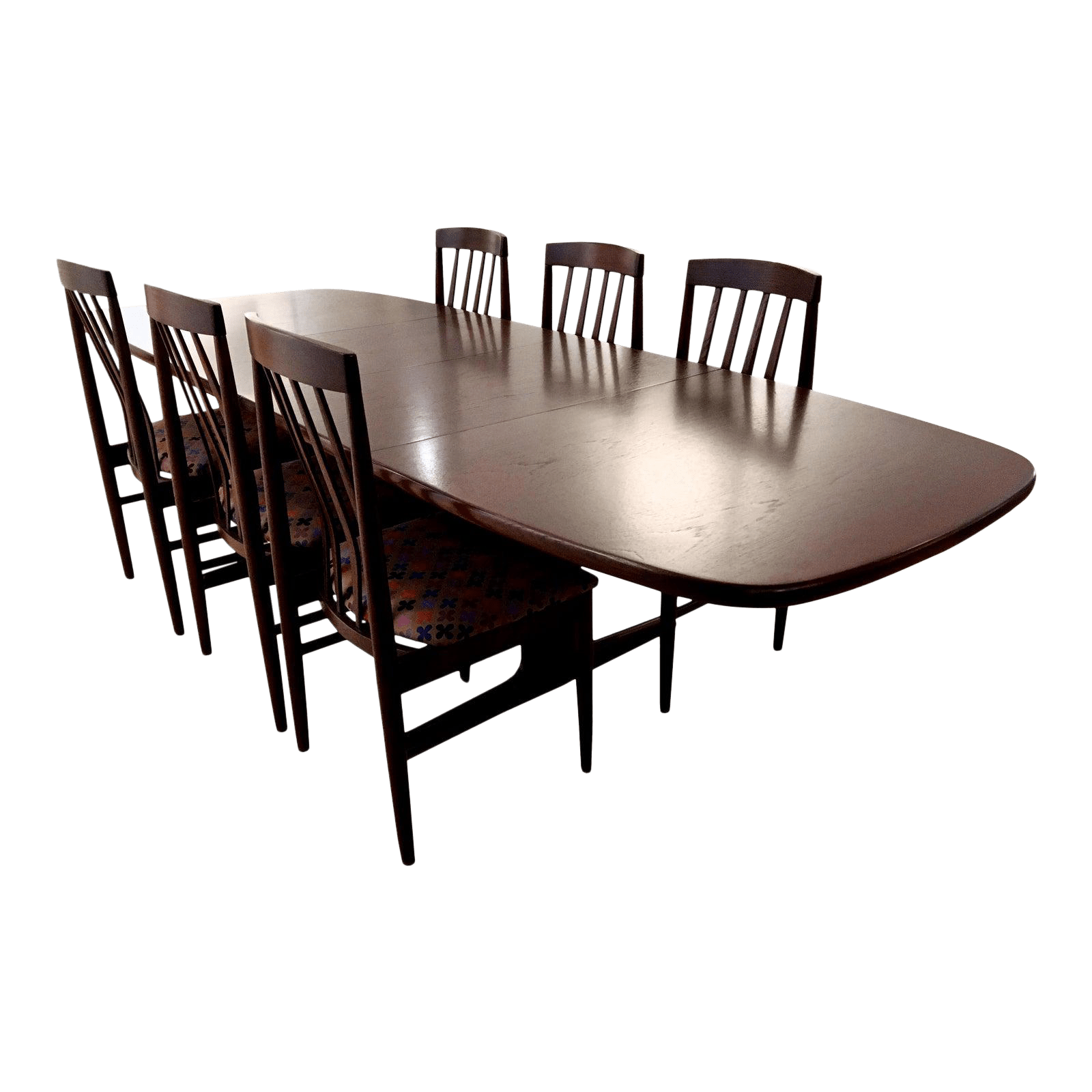 Teak Dining Room Chairs 1960s Scandinavian Design Rose Mahogany Finished Teak Dining Table Chairs Set Of 6