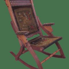 Antique Victorian Folding Rocking Chair Party Rental Eastlake Chairish