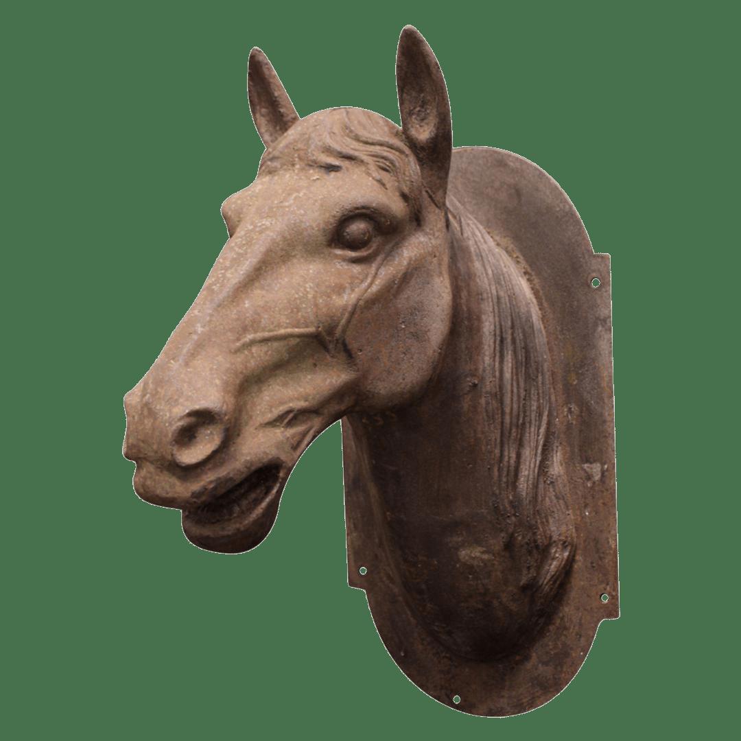 Cast Iron Horse Head Sculpture  Chairish