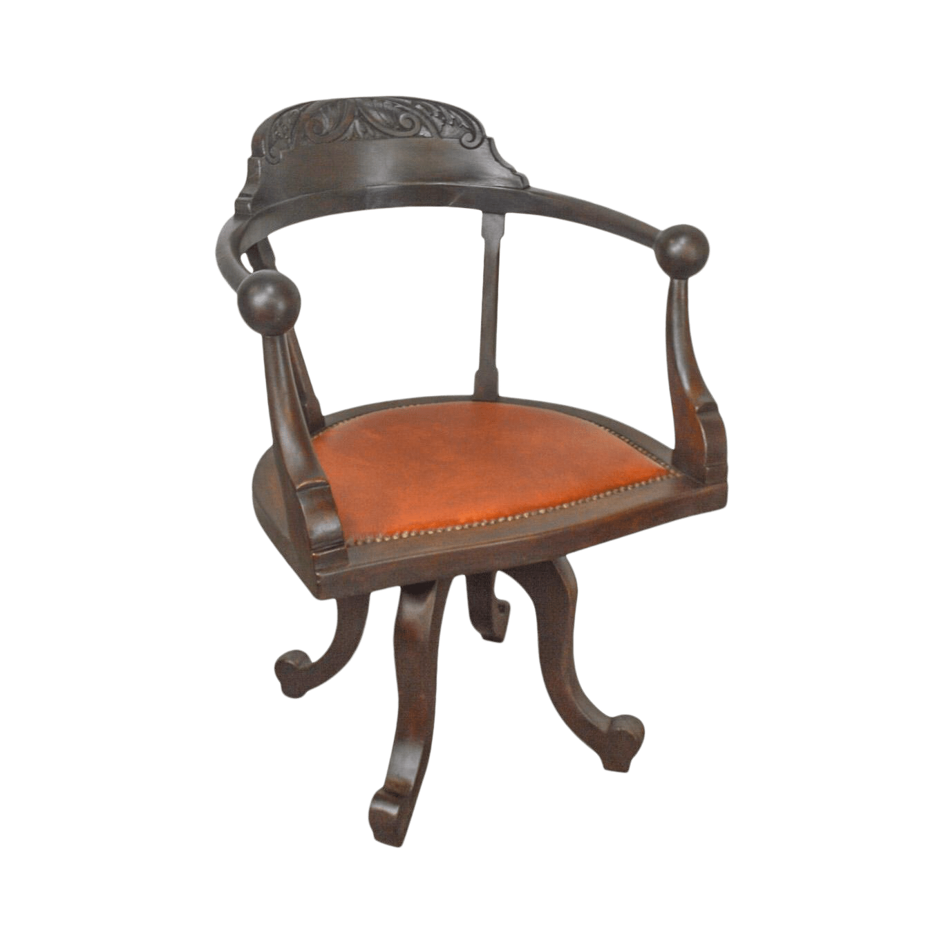 antique mahogany office chair to bed furniture victorian swivel desk chairish