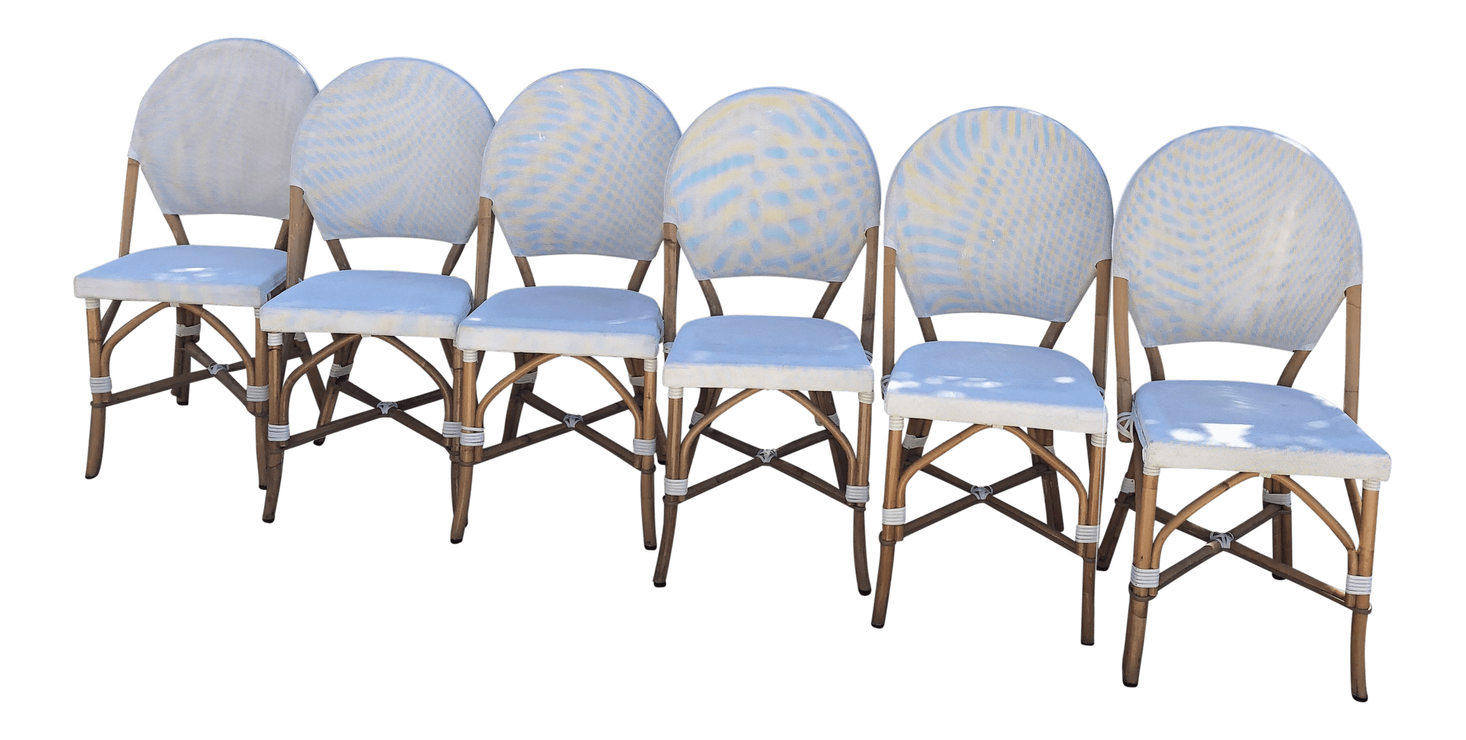 White Bistro Chairs Vintage Deconstructed Bistro Chairs Set Of 6