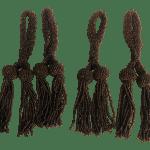 Late 20th Century Brown Bead Napkin Ring Tassels Set Of 4 Chairish