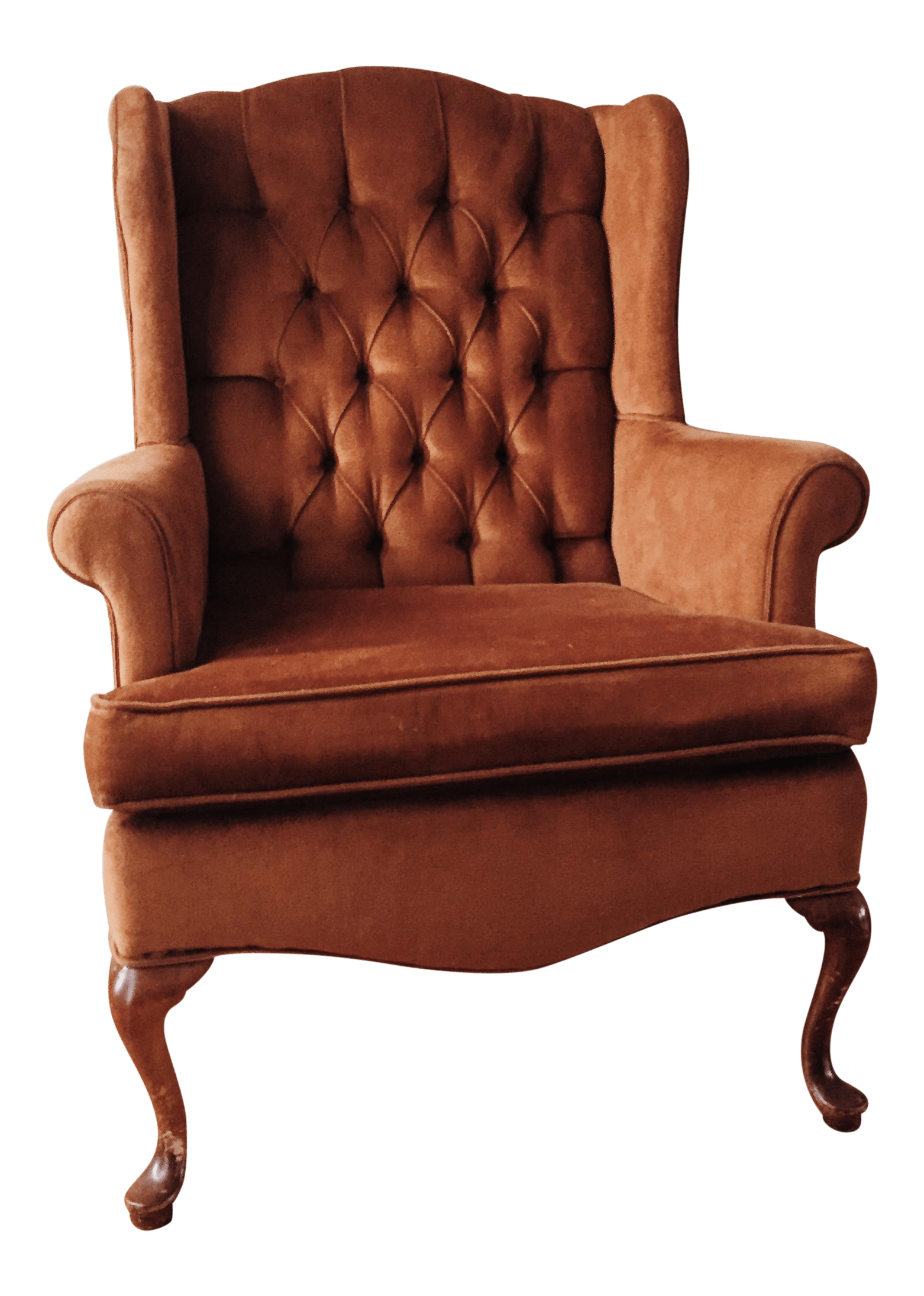Orange Wingback Chair Mid Century Burnt Orange Wing Back Chair Chairish