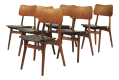Mid Century Modern Danish Teak Dining Chairs By Boltinge Stole Inc Reupholstery Set Of 6 Chairish