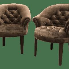 Velvet Tufted Chair Es Robbins Mats Art Deco Taupe Club Chairs A Pair Chairish