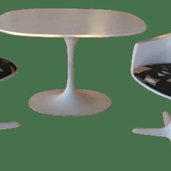 Tulip Table And Chairs Inexpensive Kitchen Mid Century Burke Industries Saarinen Style Chairish