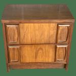 1960s Mid Century Modern Lenoir House For Broyhill Furniture Nightstand