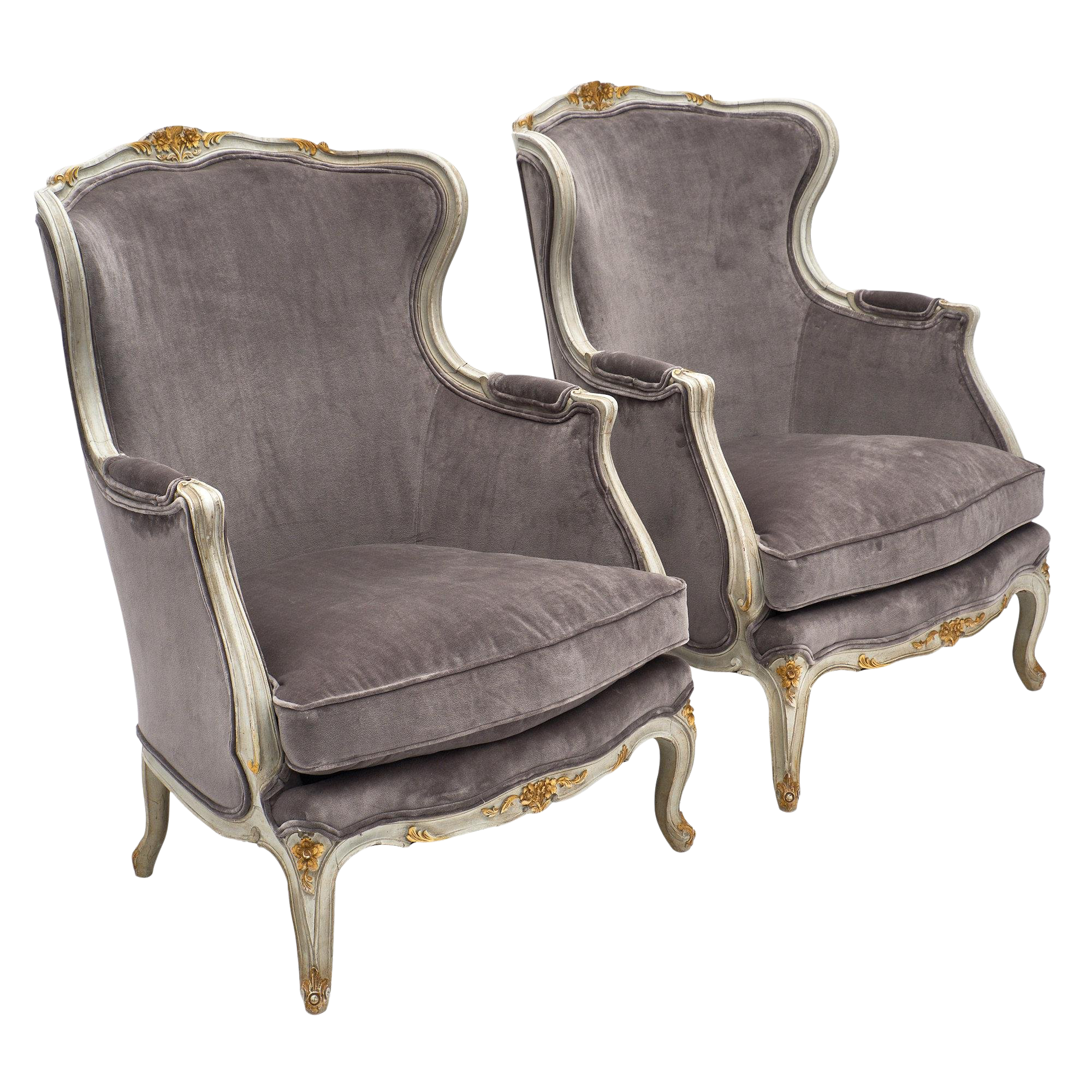 louis xv chair swing canopy replacement incredible style french bergere chairs a pair decaso