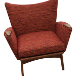 Mid Century Modern Adrian Pearsall Small Wing Back Chair Chairish