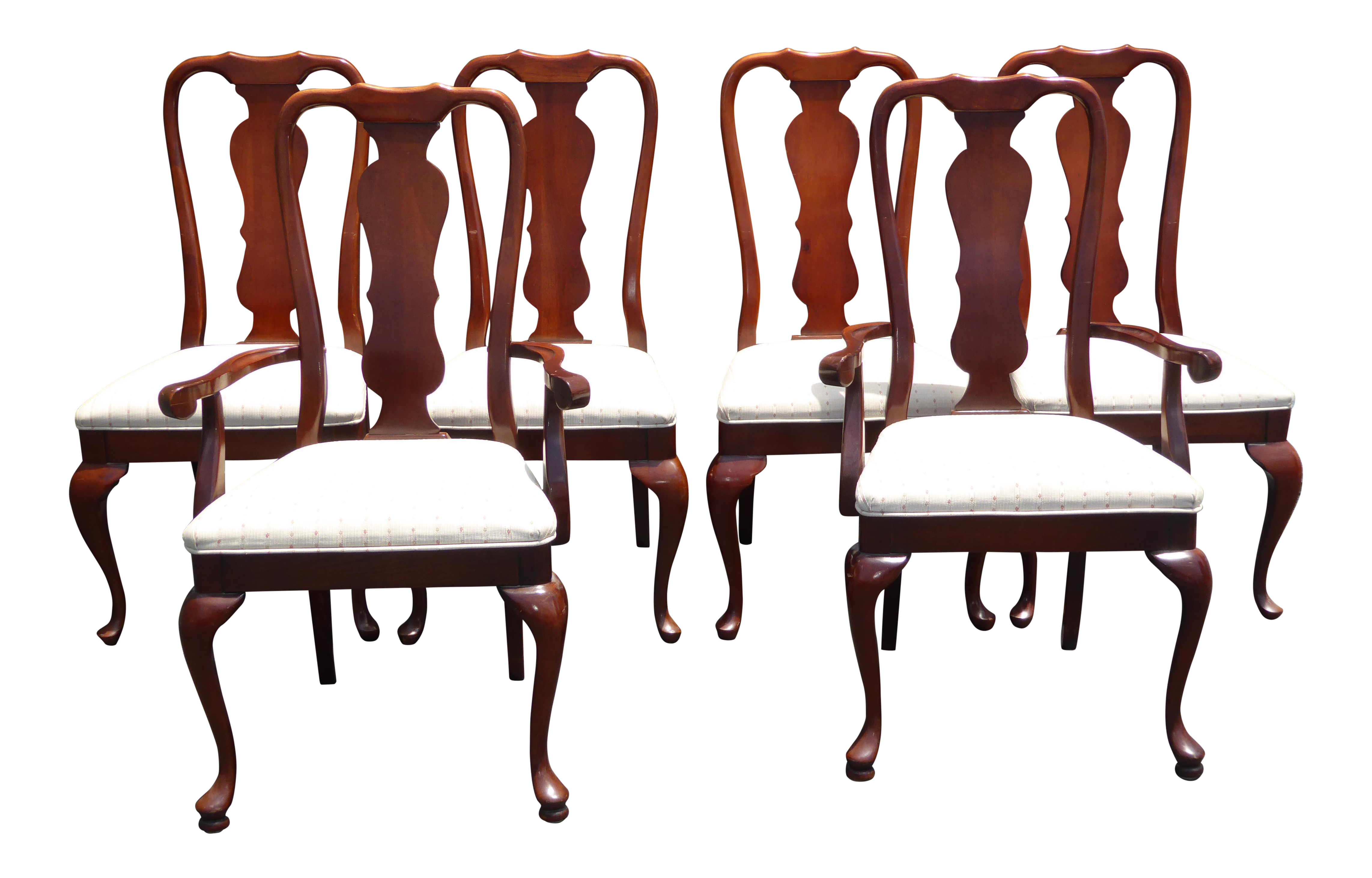 queen anne style chair replica fermob luxembourg lounge vintage american of martinsville dining chairs set 6 chairish