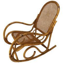 Rocking Chair Cane Eddie Bauer Camping Vintage Franco Albini Style Rattan And Chairish