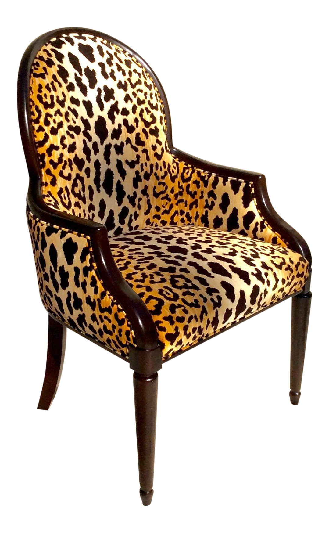 Animal Print Dining Chairs Velvet Animal Print Accent Chair Chairish