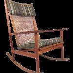 Scandinavian Modern Teak And Cane Rocking Chair By Hans Olsen Chairish