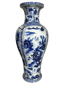 Ming Style Blue And White Floor Vase