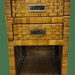 Vintage Bamboo Nightstand
