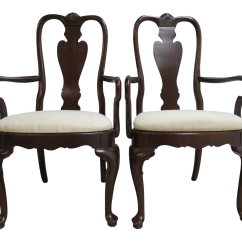 Ethan Allen Queen Anne Dining Chairs Folding Quad Chair Parts Georgian Court Room Arm