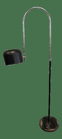 Vintage Mid Century Modern Black Arc Floor Lamp Joe Colombo For Oluce Chairish