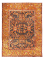 Antique Malayer Traditional Persian Red And Gold Wool Rug 7 8 10 5