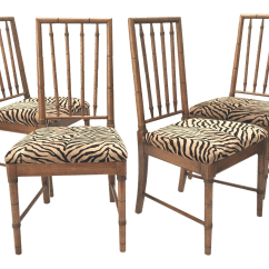Tiger Print Chair Slip Covers For Wing Back Chairs Bamboo Dining Chairish