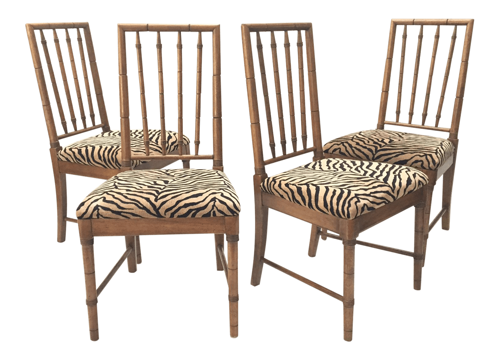 tiger print dining chairs chicco folding high chair bamboo chairish