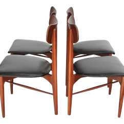 Danish Modern Dining Chair Foldable Table And Chairs Argos Mid Century Set Of 4 Chairish