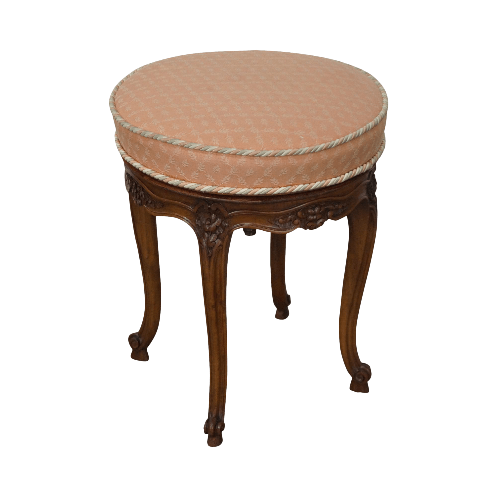 revolving chair bar stool mexican dining table and chairs french louis xv walnut round chairish