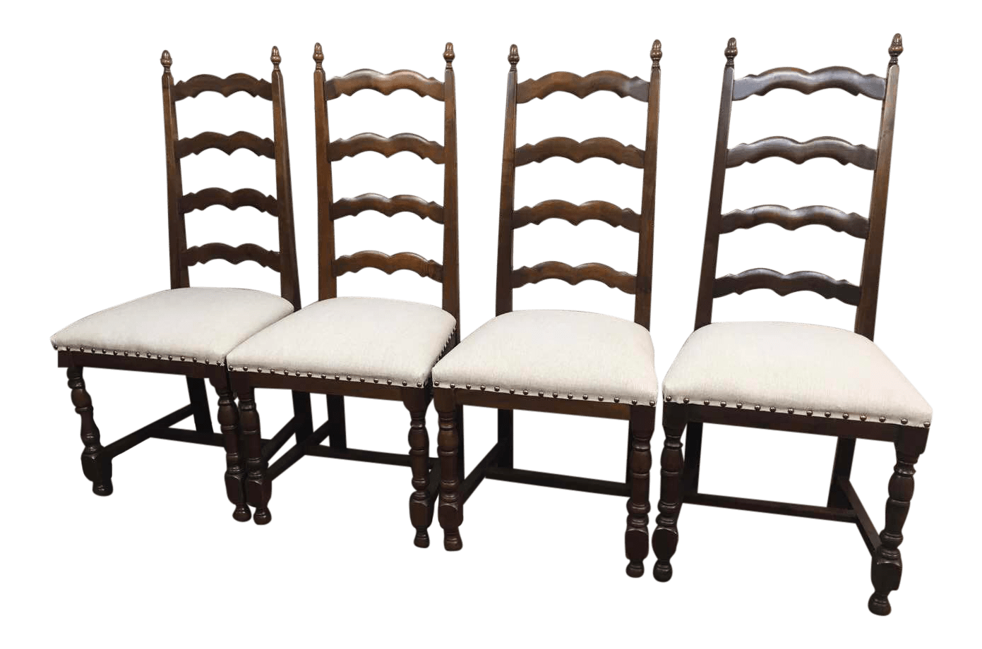 ladder back dining chairs french country oversized chair for two reupholstered