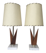 Mid Century Modern Table Lamps A Pair Chairish
