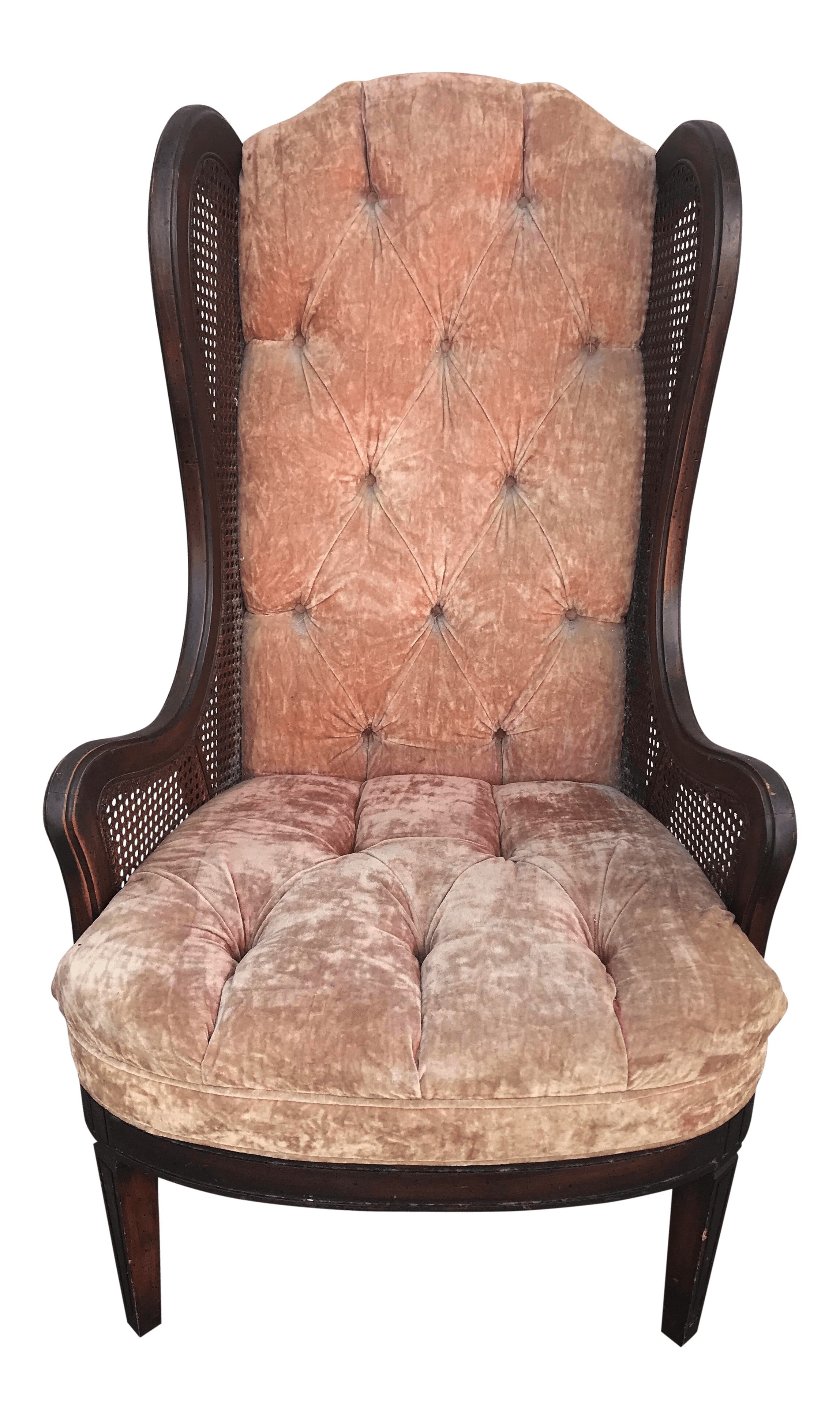 Wingback Tufted Chair Lewittes Wingback Tufted Mid Century Chair
