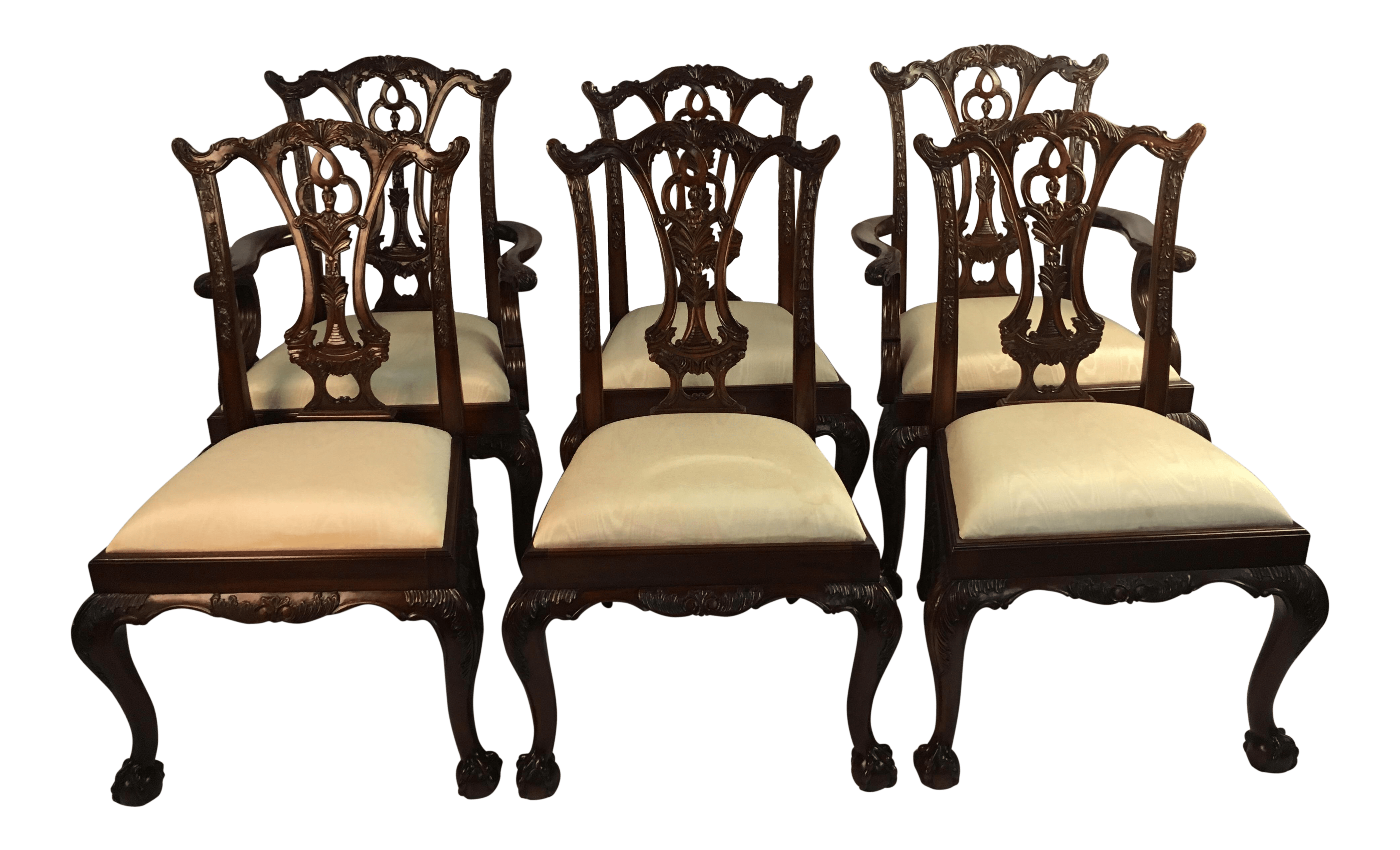 maitland smith dining chairs used wooden for sale set of 6 vintage chairish