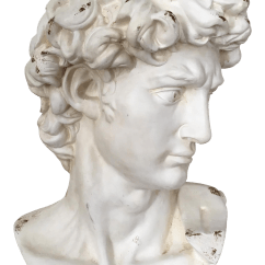 Kitchen Cabinets Design With Islands French Plaster Bust Of David | Chairish