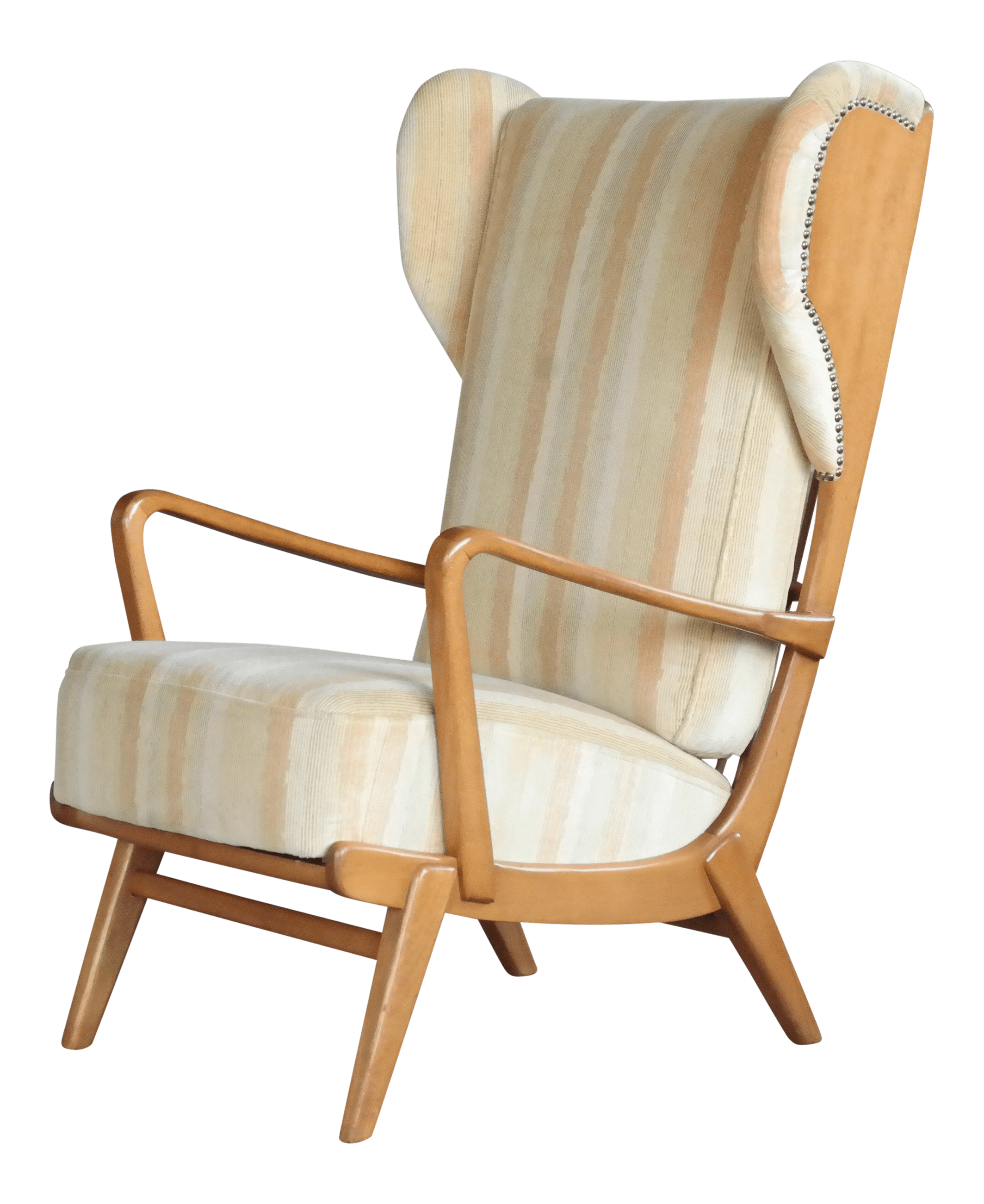 Cool Lounge Chairs Danish Midcentury Wingback Lounge Chair With Exposed Sides