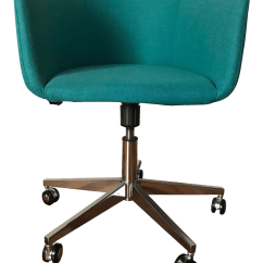 Desk Chair Teal Herman Miller Side Cb2 Coup Office Chairish
