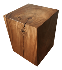Reclaimed Solid Wood Cube Table | Chairish