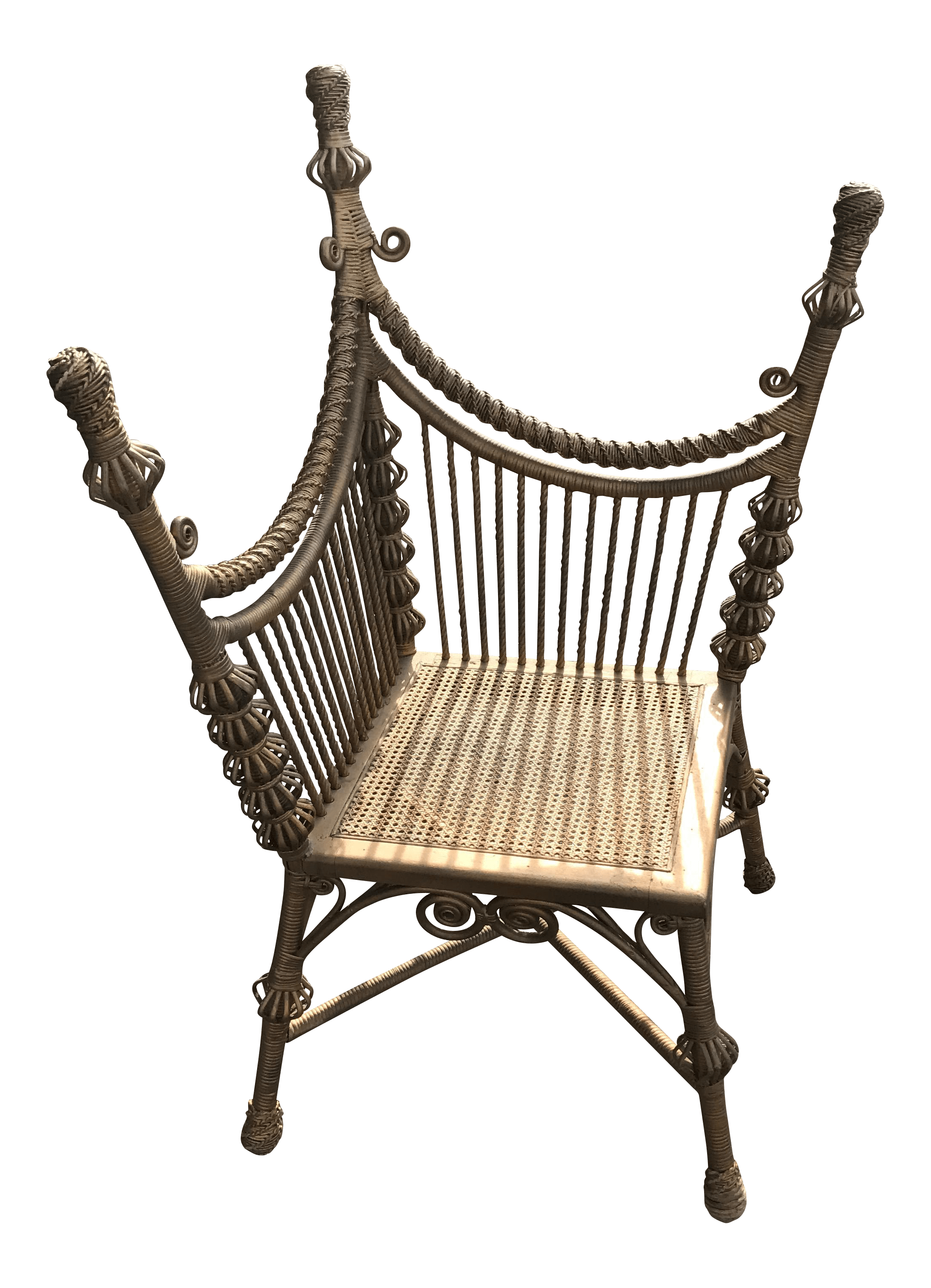 heywood wakefield wicker chairs victorian style chair covers gold photographer 39s chairish