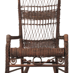 Wicker Rocking Chairs Chair Stool Antique Natural Porch Rocker Chairish