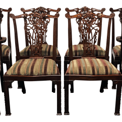 Maitland Smith Dining Chairs Minnie Mouse Chair Target Mahogany Chippendale Set Of 8 Chairish