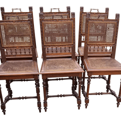 Antique Cane Chairs Inexpensive Chair Covers Early 20th Century Set Of 6 Chairish