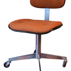 Steelcase Vintage Chair 1930 Platform Rocking Orange Wool Rolling Office Chairish
