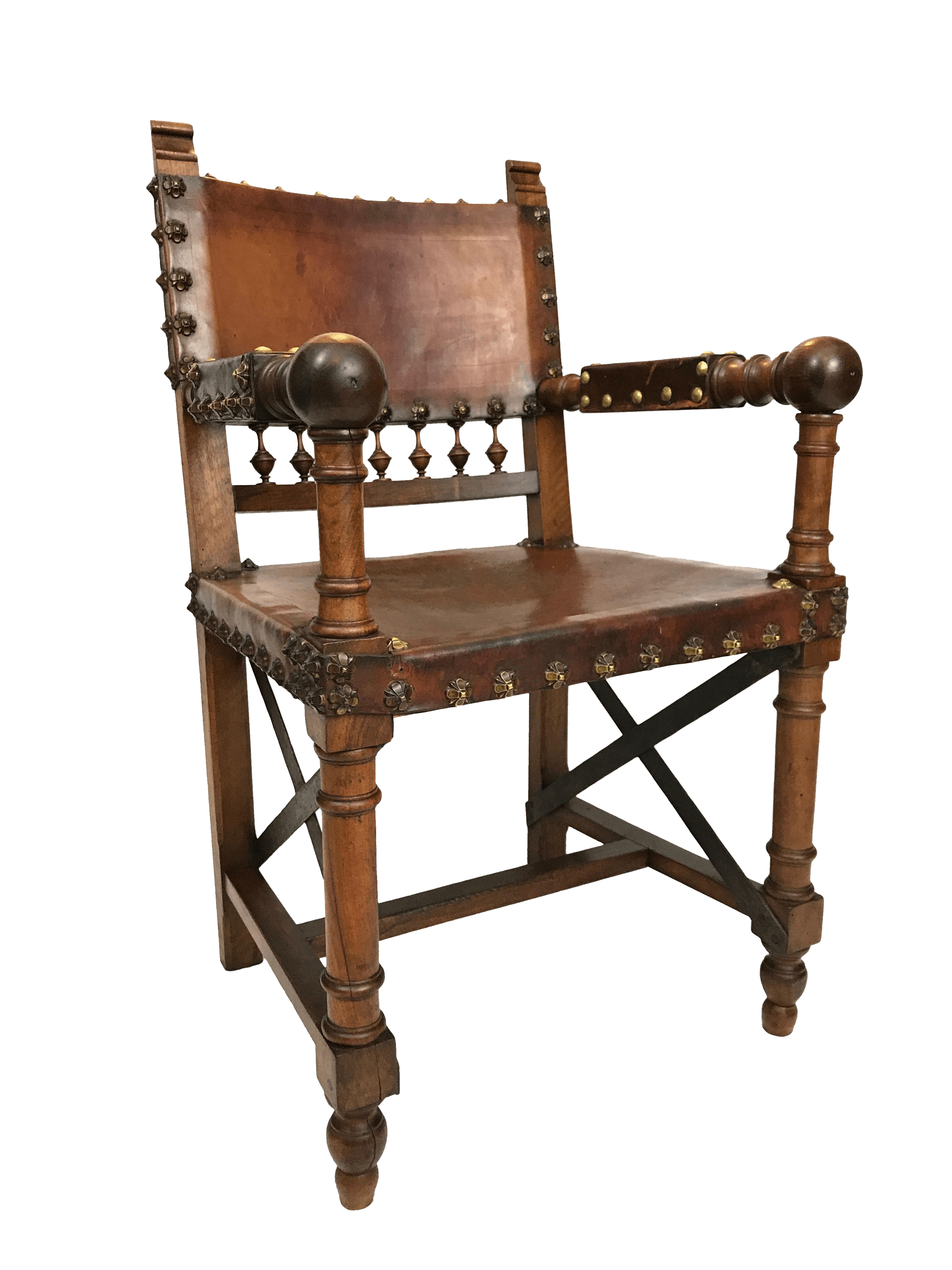 game of thrones office chair two seater lawn 19th century renaissance revival leather