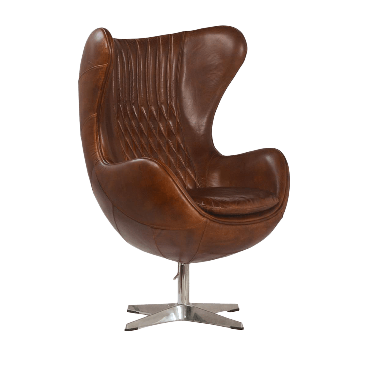 Brown Leather Wingback Chair Brown Leather Quilted Wingback Chair Chairish