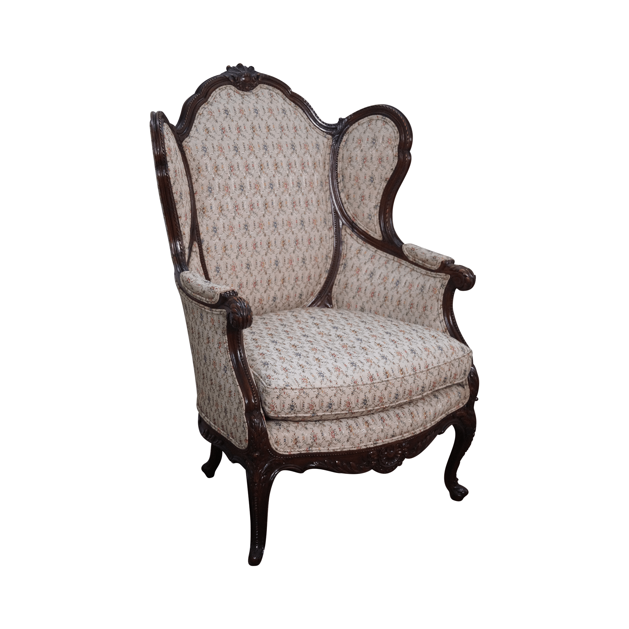 1920s rocking chair hair salon vintage french louis xv style wing chairish