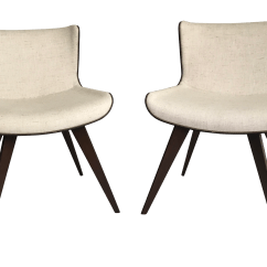 Mid Century Accent Chair Cheap Desk Chairs For Girls Style Wood Wrapped A Pair Chairish